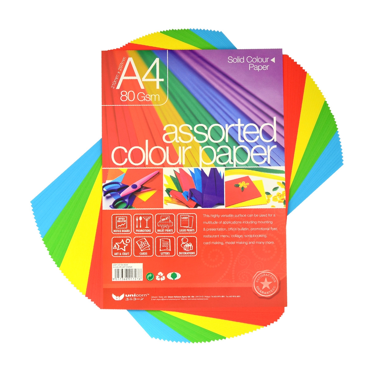 Unicorn D-Colour Art Paper A4-8040 UAP-727 (10 packets)