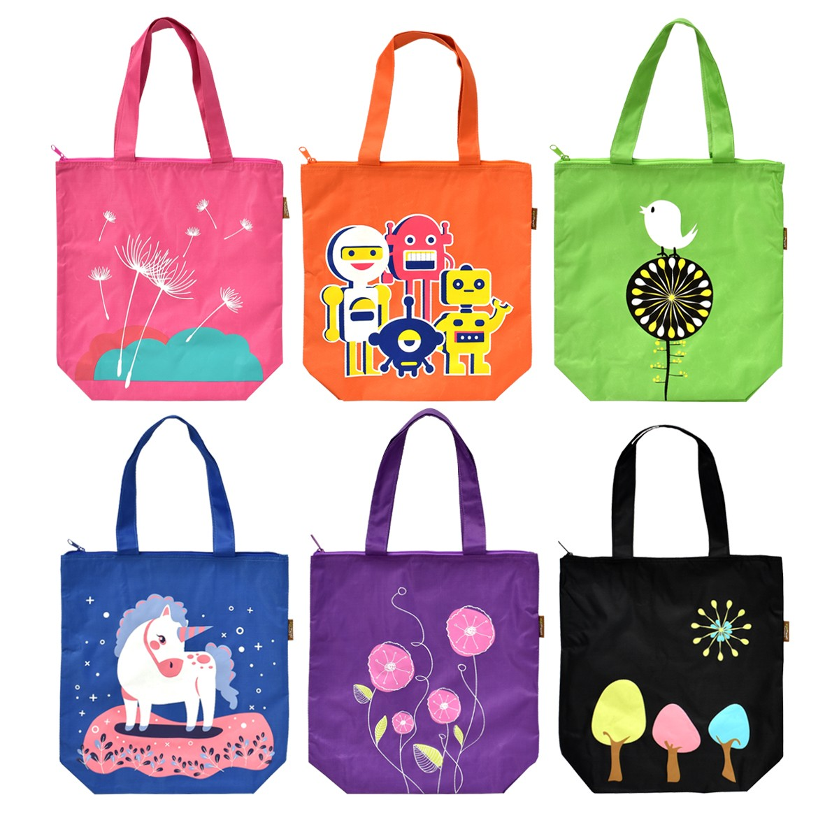 Unicorn Tuition Bag UTB-1314C Asst (6 pcs)