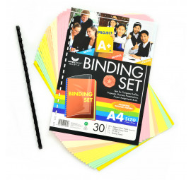 Unicorn Colour Bindng A4 Set UBS-30  (10 packets)