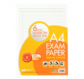Unicorn Exam Paper A4 70G 100'S Narrow Line UEP-111 (10 packets)