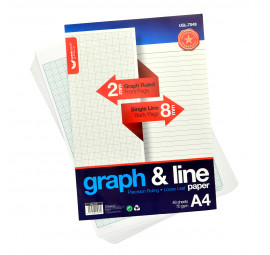 Unicorn Graph & Line Paper A4 48'S UGL-7048 (10 packets)