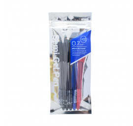 Unicorn Semi Gel Pen 0.7MM Asst 5'S UBP-616SX (12 pcs)