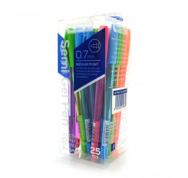 Unicorn Semi Gel Pen 0.7MM ASST 25'S UBP-616FC (8 boxes)