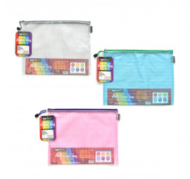 Unicorn Mesh PVC Zipper Bag A4 UZB-M56 (12 pcs)