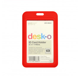 Unicorn ID Card Holder 54X85MM UCH-8634-Red (6 pcs)