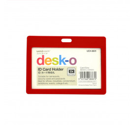 Unicorn ID Card Holder 90X54MM UCH-8611-Red (12 pcs)