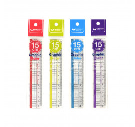 Unicorn 15cm Graphic Ruler UGR-215 (24 pcs)