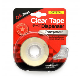 Unicorn Clear Tape With Dispenser 19MMX25.40M UCT-188 (12 pcs)