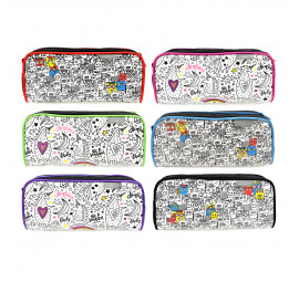 Unicorn Doodle Pencil Bag UPB-805XL-DD (6pcs)