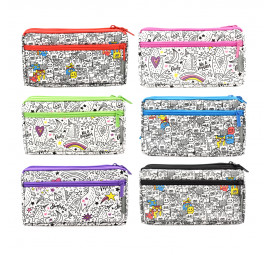 Unicorn Doodle Pencil Bag UPB-908XL-DD (6pcs)