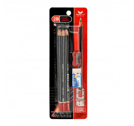 Unicorn Exam Grade 2B Pencil Set BC-2880-9'S (12 sets)