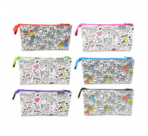 Unicorn Doodle Pencil Bag UPB-905XL-DD (6 pcs)
